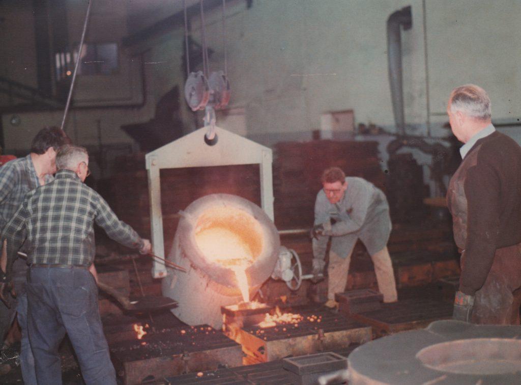 Produktionen 1973-74. Jernstøberiet lukkede i 1993